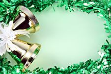 Free Decorations Green Ribbon For Christmas And New Year. Royalty Free Stock Photos - 36066848