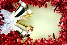 Free Decorations Red Ribbon For Christmas And New Year. Royalty Free Stock Photography - 36067377