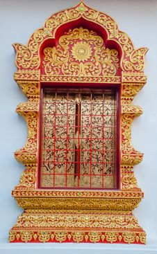 Free Detail Of Temple S Door Chiangmai , Thailand . Royalty Free Stock Photo - 36067415