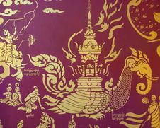 Free Thai Pattern In Temple Royalty Free Stock Image - 36069216