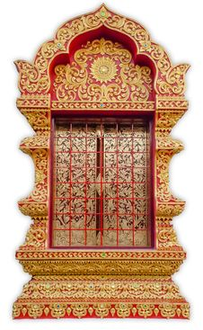 Free Detail Of Temple S Door Chiangmai , Thailand . Royalty Free Stock Images - 36069439