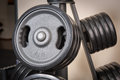 Free Barbell Plates Rack Royalty Free Stock Photo - 36075235