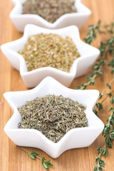 Free Provence Herbs - Thyme, Oregano And Basil, Selective Focus Stock Photography - 36070612
