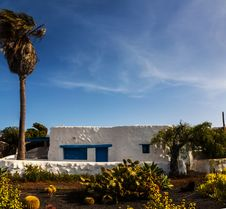 Lanzarote  White Typical House Stock Image