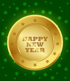 Free Happy New Year Seal Royalty Free Stock Image - 36072596