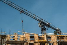 Construction Crane At The Construction Site Royalty Free Stock Photos