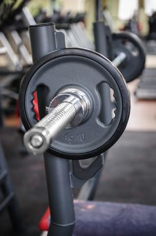 Free Barbell Ready To Workout Stock Image - 36075211