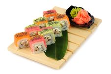 Free Rainbow Sushi Royalty Free Stock Photography - 36075217