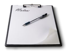Clipboard With Pen Royalty Free Stock Photography