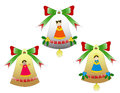 Free Trio Of Christmas Bells Isolated Stock Image - 36080961