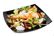 Free Lobster Salad In Japanese Style Royalty Free Stock Photo - 36085505