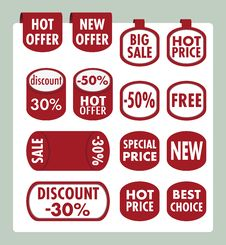 Free Set Of Stickers And Banners Stock Image - 36086661