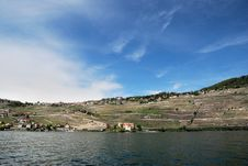 Free A View Of The Village From The Vine Terraces Royalty Free Stock Images - 36089809