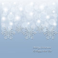 Free Christmas Background With 3d Snowflakes And Stars Stock Photos - 36090763