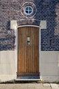 Free Wooden Door And Round Window Stock Photos - 36091553