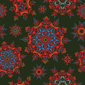 Free Multicolor Bright Ethnic Floral Pattern Texture Stock Photography - 36093892