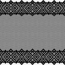 Black Lace Background Stock Photo