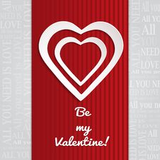 Free Be My Valentine Royalty Free Stock Image - 36093586
