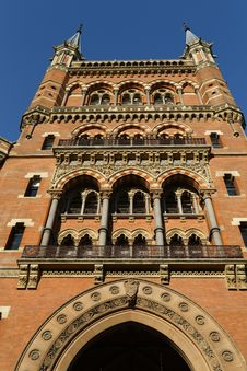 St Pancras Hotel In London Royalty Free Stock Photography