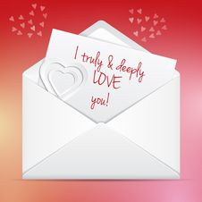 Free Love Letter Royalty Free Stock Images - 36093699