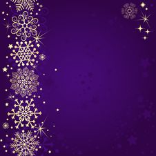 Free Violet Christmas Frame Stock Photo - 36095660