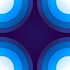 Free Abstract Blue Paper Circles Background Royalty Free Stock Photos - 36096648
