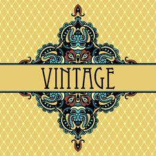 Free Elegance Luxury Vintage Vignette Design Stock Image - 36096821