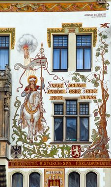 Free Ornament On Beautiful Old Building, Prague Stock Images - 36097154