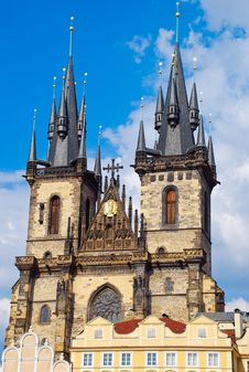 Church Of Our Lady Before Týn Or Church Of Mother Of God In Front Of Týn, Prague Stock Photography