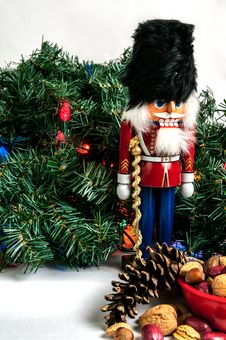 Free Nutcracker And Greenery Stock Photos - 36097843