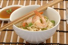 Free Noodles And Shrimp Stock Image - 3610781