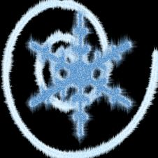 Icy Blue Snowflake Stock Photo