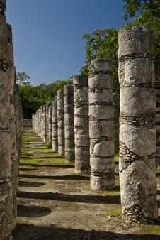 Free Ancient Columns At Chichen Itza Mexico Royalty Free Stock Photo - 3611655