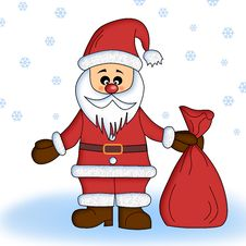 Free Santa Claus With Sack Royalty Free Stock Images - 3612189