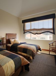 Elegant Home: Bedroom Royalty Free Stock Image