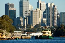 Free City And Ferry Royalty Free Stock Photo - 3613055