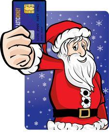 Santa Money Royalty Free Stock Photography