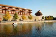 Moat & Turret, Forbidden City Stock Photography
