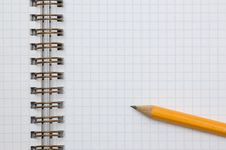 Free Pencil On Spiral Notepad Stock Images - 3614414