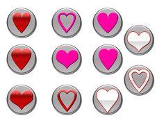 Heart Icons Royalty Free Stock Photos