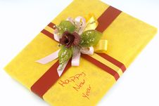 Free Yellow Gift Box Royalty Free Stock Image - 3615776