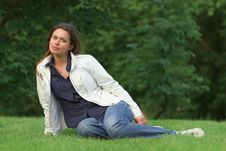 Free Relaxing In A Park Stock Image - 3616231