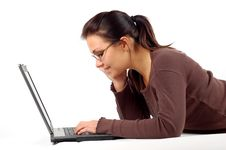 Free Woman Working On Laptop 14 Royalty Free Stock Photos - 3616268