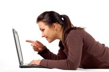 Free Woman Working On Laptop 14 Stock Photography - 3616312