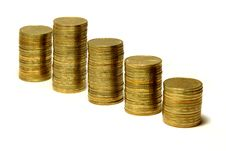 Free Columns Of Golden Coins Stock Photography - 3616502