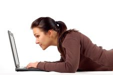 Free Woman Working On Laptop 14 Royalty Free Stock Photography - 3616517