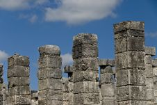 Free Ancient Columns At Chichen Itza Mexico Royalty Free Stock Photography - 3616747