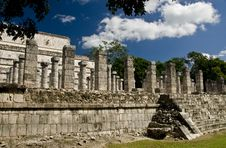Free Ancient Columns At Chichen Itza Mexico Stock Images - 3616954