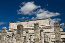 Free Ancient Columns At Chichen Itza Mexico Royalty Free Stock Photos - 3616998