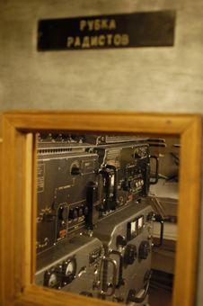 Radioman Compartment. Submarine Interiors Royalty Free Stock Photo